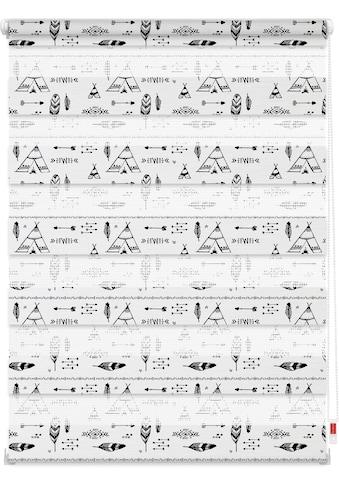 LICHTBLICK ORIGINAL Doppelrollo »Duo Rollo Motiv Tipi«, Lichtschutz, ohne Bohren,... kaufen