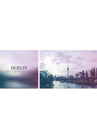 queence Leinwandbild »Berlin«, (Set), 2er-Set kaufen