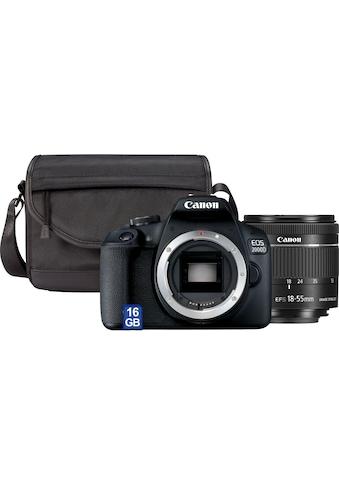 Canon Spiegelreflexkamera »EOS 2000D EF-S 18-55 IS II Value Up Kit«, EF-S 18-55 IS II,... kaufen
