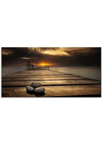 Artland Glasbild »Sonnenaufgang am Schwarzen Meer« kaufen
