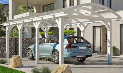 Skanholz Einzelcarport »Franken«, Leimholz-Nordisches Fichtenholz, 300 cm, weiß kaufen