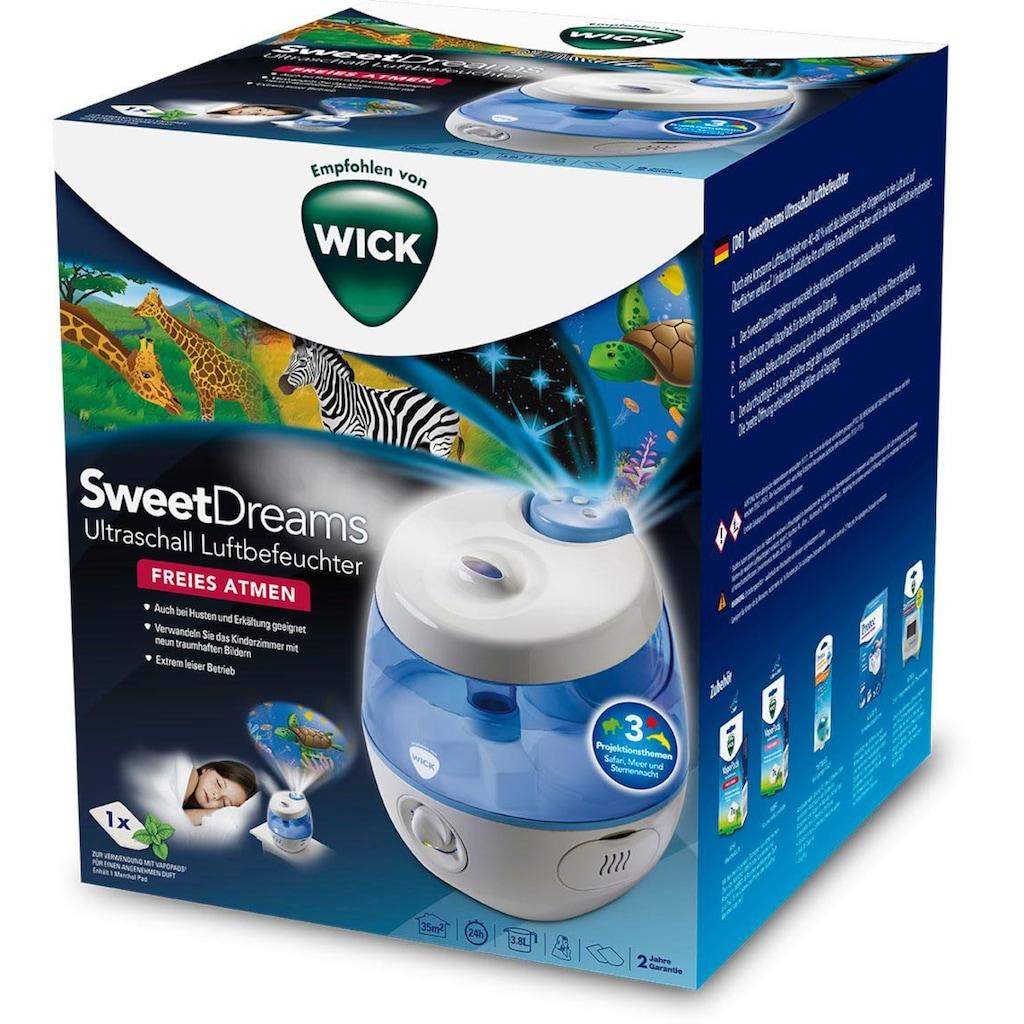 WICK Luftbefeuchter »WUL575 SweetDreams«, 3,8 l Wassertank, mit Lichtprojektion