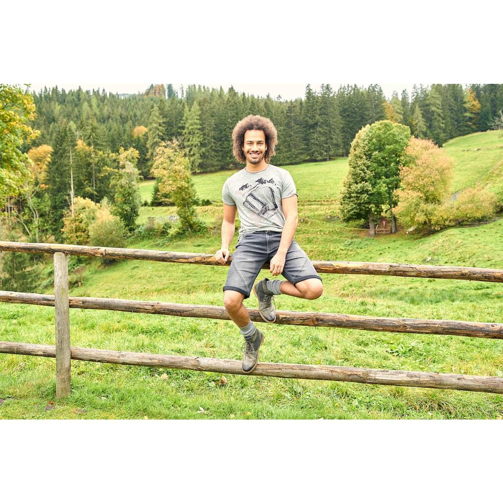 Andreas Gabalier Kollektion Trachtenbermudas, Herren aus bequemen Jogg Denim für einen hohen Tragekomfort