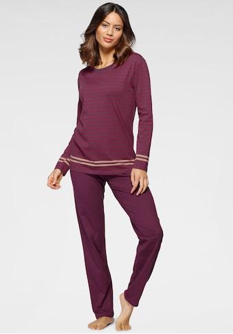 Schiesser Schlafanzug, mit Streifenprint kaufen