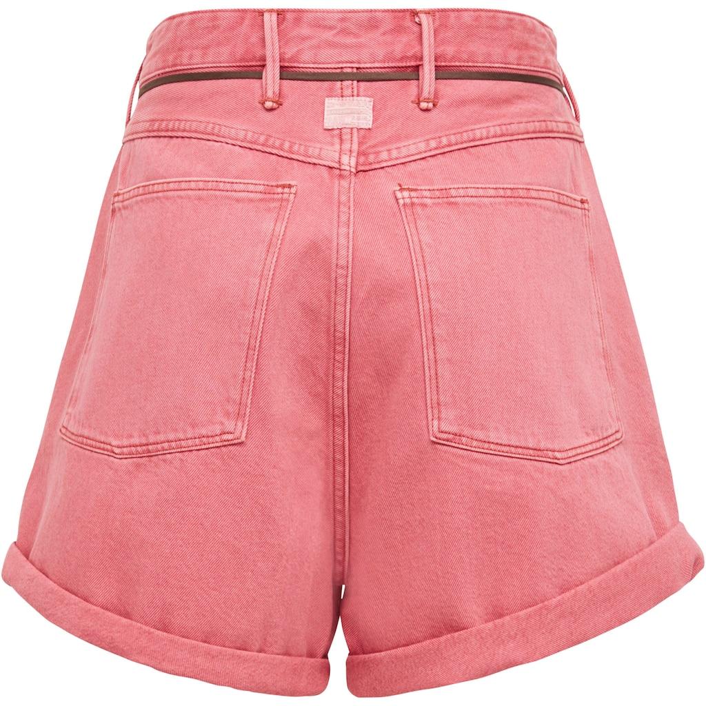 G-Star RAW Shorts »Lintell Shorts«, mit Ultrahoher Bund und dünner Schnürsenkel-Kordel