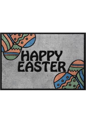 HANSE Home Fußmatte »Happy Easter«, rechteckig, 7 mm Höhe, Schmutzfangmatte, mit Spruch kaufen