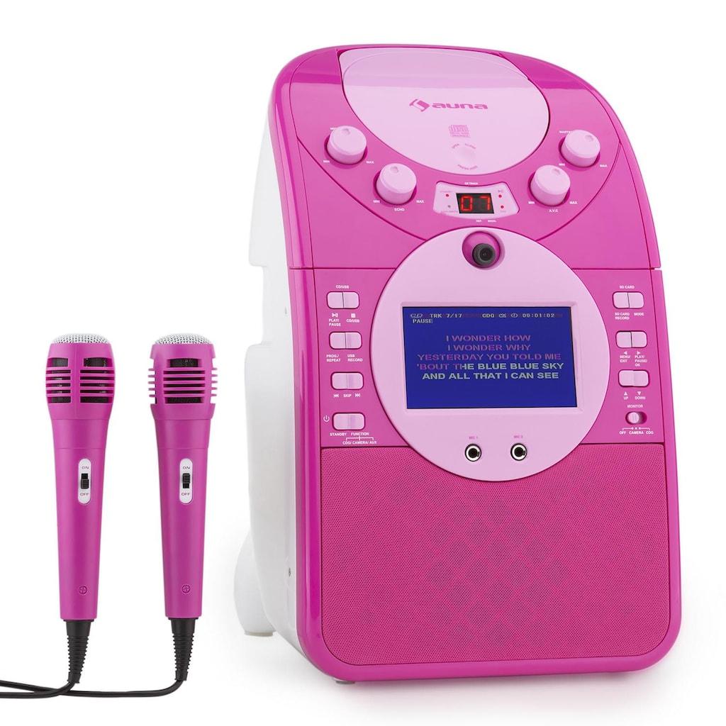 Auna Karaokeanlage Kamera CD Player USB SD MP3 inkl. 2 Mikrofone »Screen Star«