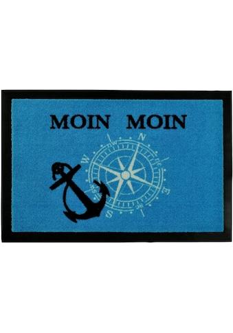 HANSE Home Fußmatte »Moin Moin«, rechteckig, 7 mm Höhe, Schmutzfangmatte, mit Spruch kaufen