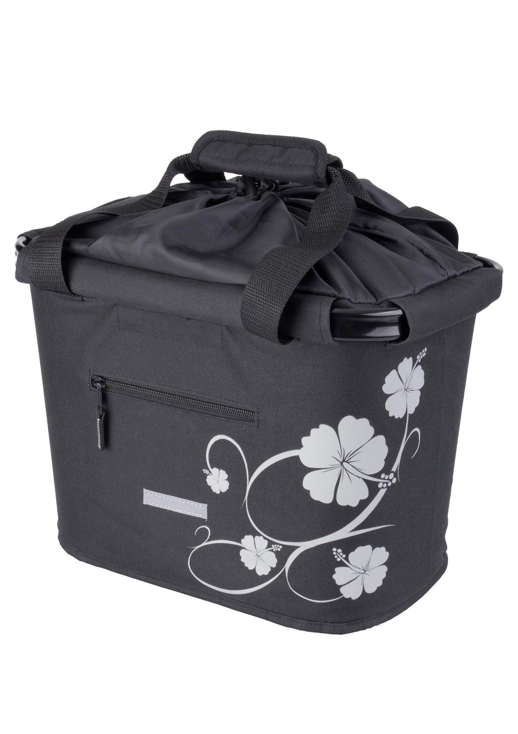 Blue Bird Fahrradtasche »Shopping Bag Hibiskus« | Taschen > Businesstaschen > Fahrrad-taschen Büro | Schwarz | Pe | BLUE BIRD