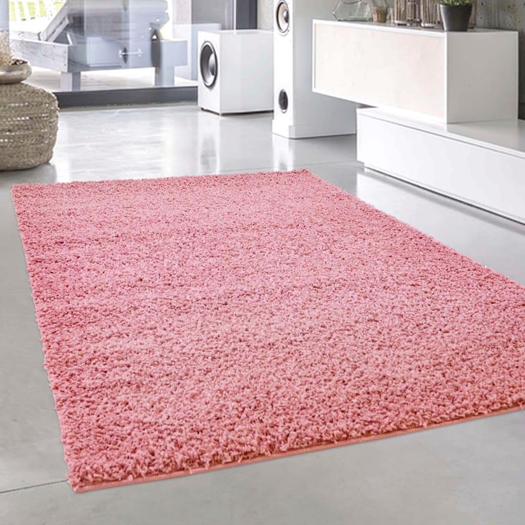 Carpet City Hochflor-Teppich »Pastell Shaggy300«, rechteckig, 30 mm Höhe, Wohnzimmer