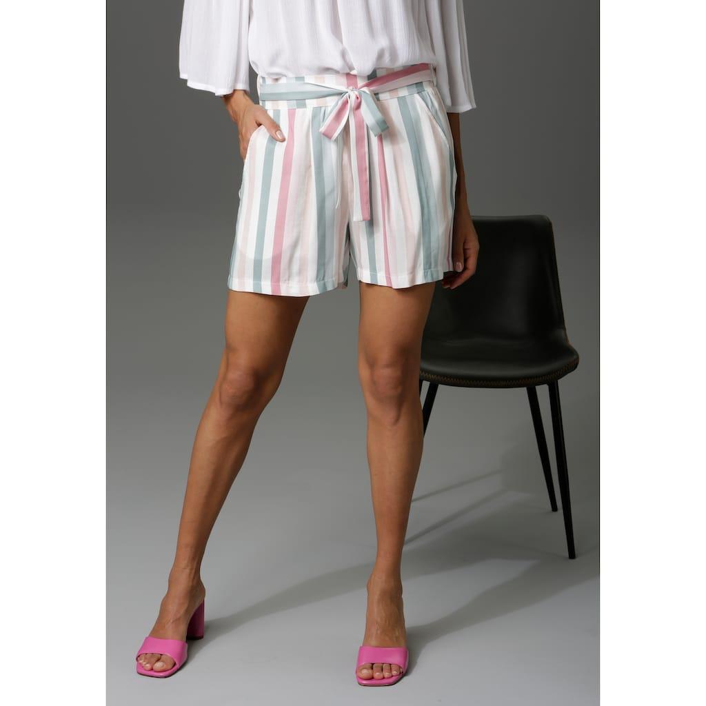Aniston CASUAL Shorts, im Streifen-Dessin