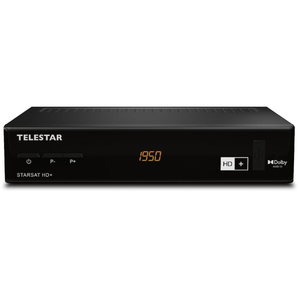 TELESTAR SAT-Receiver »TELESTAR STARSAT HD+ inkl. 6 Monate HD+«, (LAN (Ethernet), HDMI,inkl. HD+ Karte,12V mobil