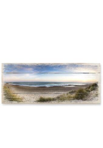 Wall - Art Holzbild »Strand Holzbild Küchen Wandbild« kaufen