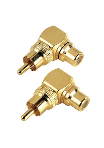 Hama Audio-Adapter »Cinch-Adapter«, Cinch-Anschluss-Set 90° kaufen