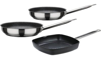 GSW Pfannen-Set »Le Chef Profi/Gastro Titanium«, Aluminiumguss, (Set, 3 tlg.), Induktion kaufen