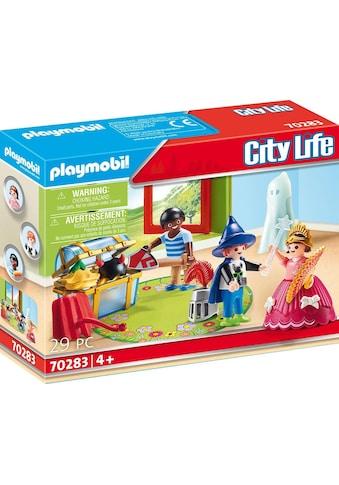 Playmobil® Konstruktions-Spielset »Kinder mit Verkleidungskiste (70283), City Life«,... kaufen