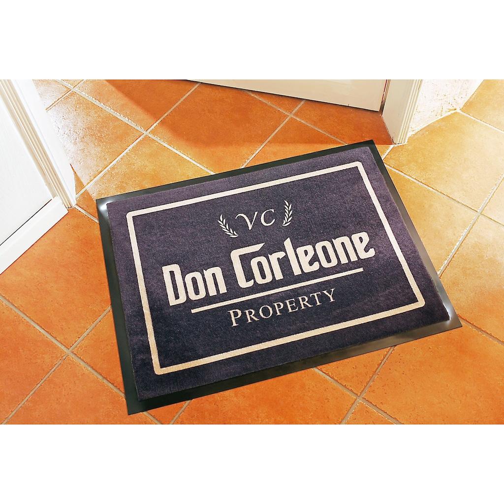 HANSE Home Fußmatte »Don Corleone - Mafia«, rechteckig, 7 mm Höhe, Schmutzfangmatte
