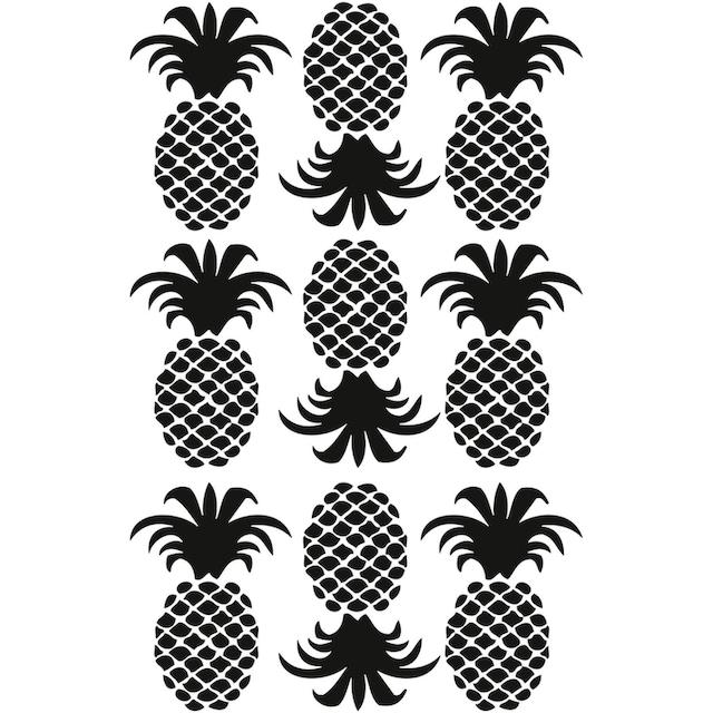 Wandtattoo »Ananas Set«
