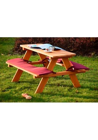 dobar Kindersitzgruppe, Picknicktisch, BxTxH: 79x89x50 cm, für 4 Kinder kaufen