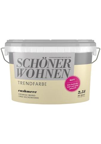 SCHÖNER WOHNEN-Kollektion Wand- und Deckenfarbe »Trendfarbe Cashmere, matt«, 2,5 l kaufen