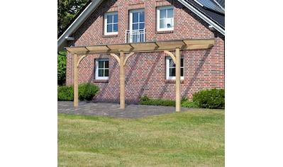 KARIBU Terrassendach »Premium Gr. B«, Breite 512 cm, verschiedene Größen, geschwungene Kopfbänder kaufen