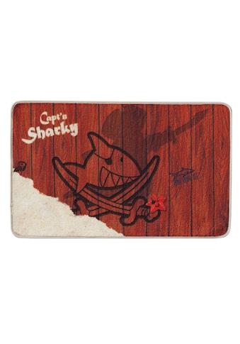 Capt`n Sharky Fußmatte »H-304«, rechteckig, 2 mm Höhe, Fussabstreifer, Fussabtreter, Schmutzfangläufer, Schmutzfangmatte, Schmutzfangteppich, Schmutzmatte, Türmatte, Türvorleger, rutschhemmend beschichtet kaufen