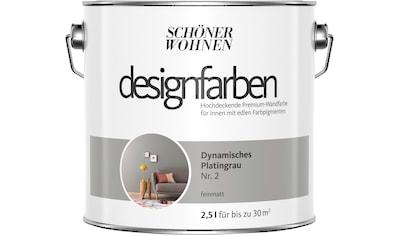 SCHÖNER WOHNEN-Kollektion Wand- und Deckenfarbe »Designfarben«, Dynamisches Platingrau... kaufen