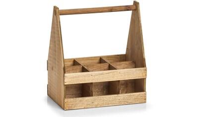 Zeller Present Flaschenkorb, (1 tlg.), Holz, für 6 Flaschen kaufen