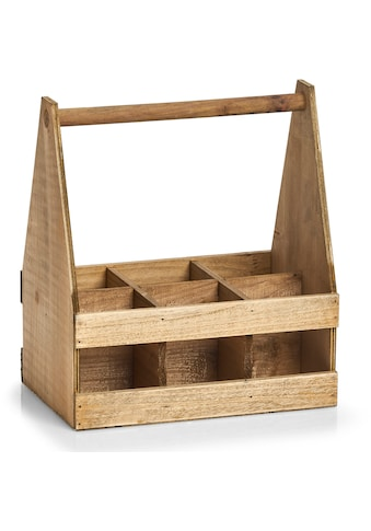 Zeller Present Flaschenkorb, Holz, für 6 Flaschen kaufen