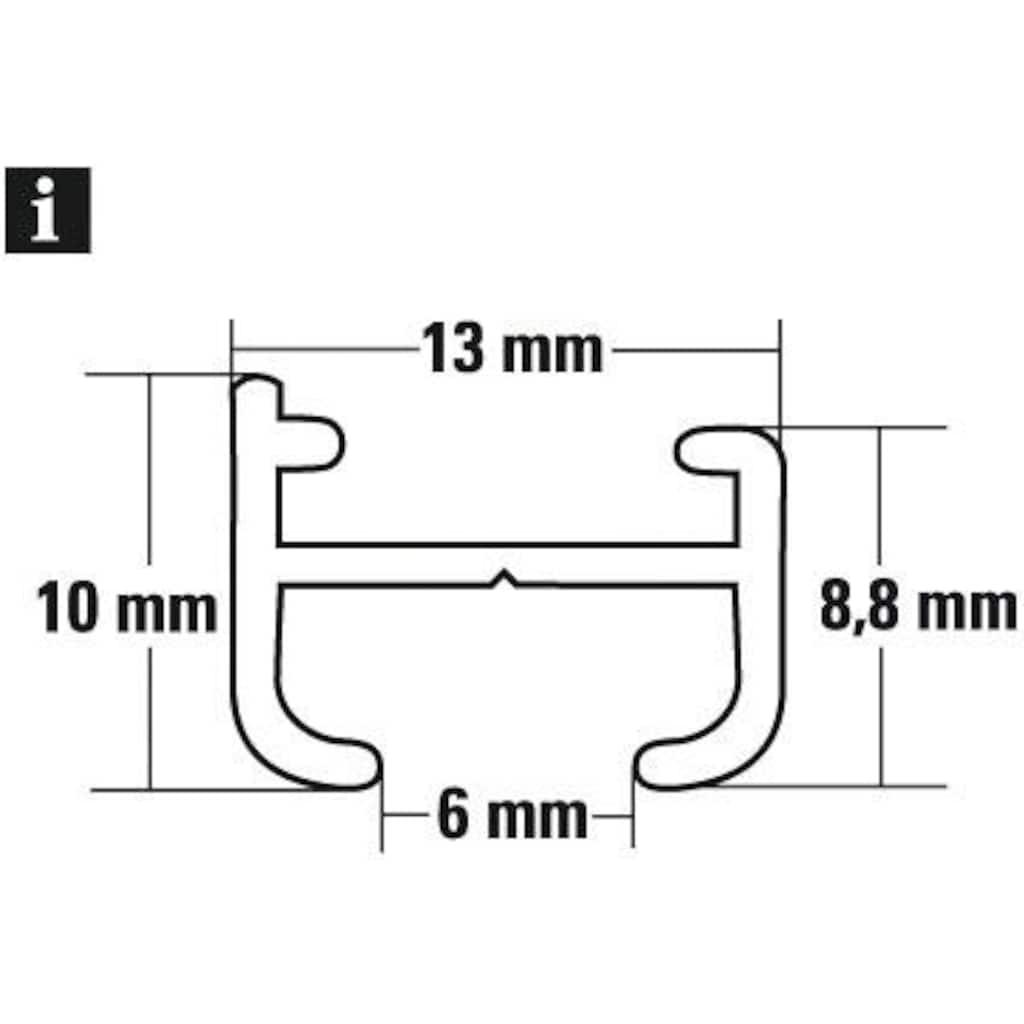 GARDINIA Gardinenschiene »Aluminiumschiene«, Serie Aluminiumschiene Ø 13 mm