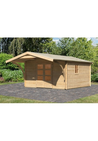 Karibu Gartenhaus, mit Vordach kaufen