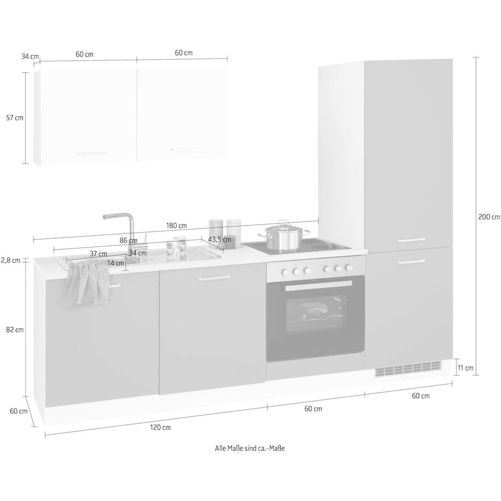 HELD MÖBEL Küchenzeile »Visby«, ohne E-Geräte, Breite 240 cm