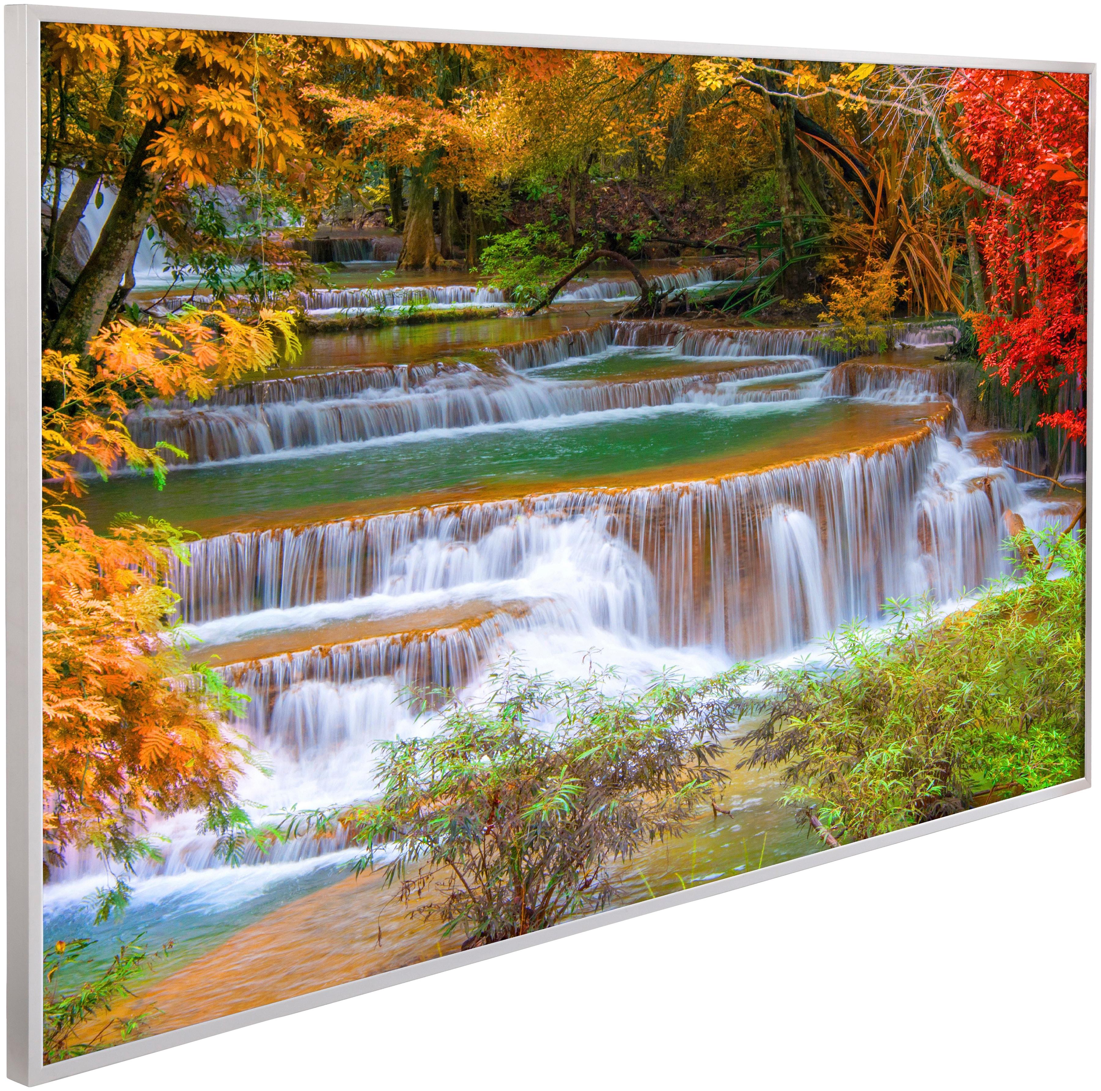 PAPERMOON Infrarotwandheizgerät »EcoHeat Wasserfall Regenwald«, Aluminium, 600 W, 100x60 cm   Baumarkt > Heizung und Klima > Heizgeräte   PAPERMOON