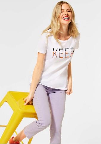 STREET ONE Print-Shirt, in frühlingsfrischen Farben kaufen
