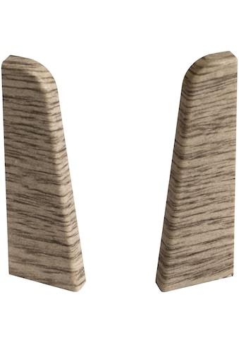 EGGER Endstücke »Eiche graubraun«, für 6 cm Sockelleiste kaufen