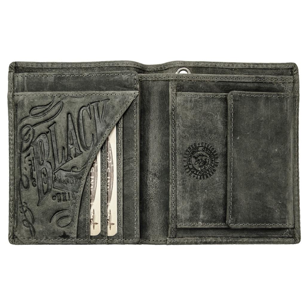 JACK'S INN 54 Geldbörse »Way«, aus Leder im Vintage Look mit umlaufender Prägung