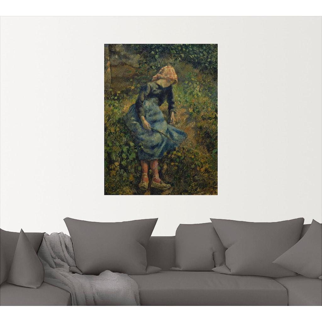 Artland Wandbild »Junges Hirtenmädchen mit Stock. 1881«, Kind, (1 St.), in vielen Größen & Produktarten -Leinwandbild, Poster, Wandaufkleber / Wandtattoo auch für Badezimmer geeignet