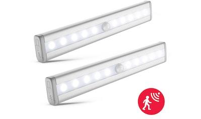 B.K.Licht LED Unterbauleuchte »Apollo«, LED-Board, 2 St., Kaltweiß, LED Schrankbeleuchtung Nachtlicht Bewegungsmelder Schrankbeleuchtung Selbstklebend 2er Set kaufen