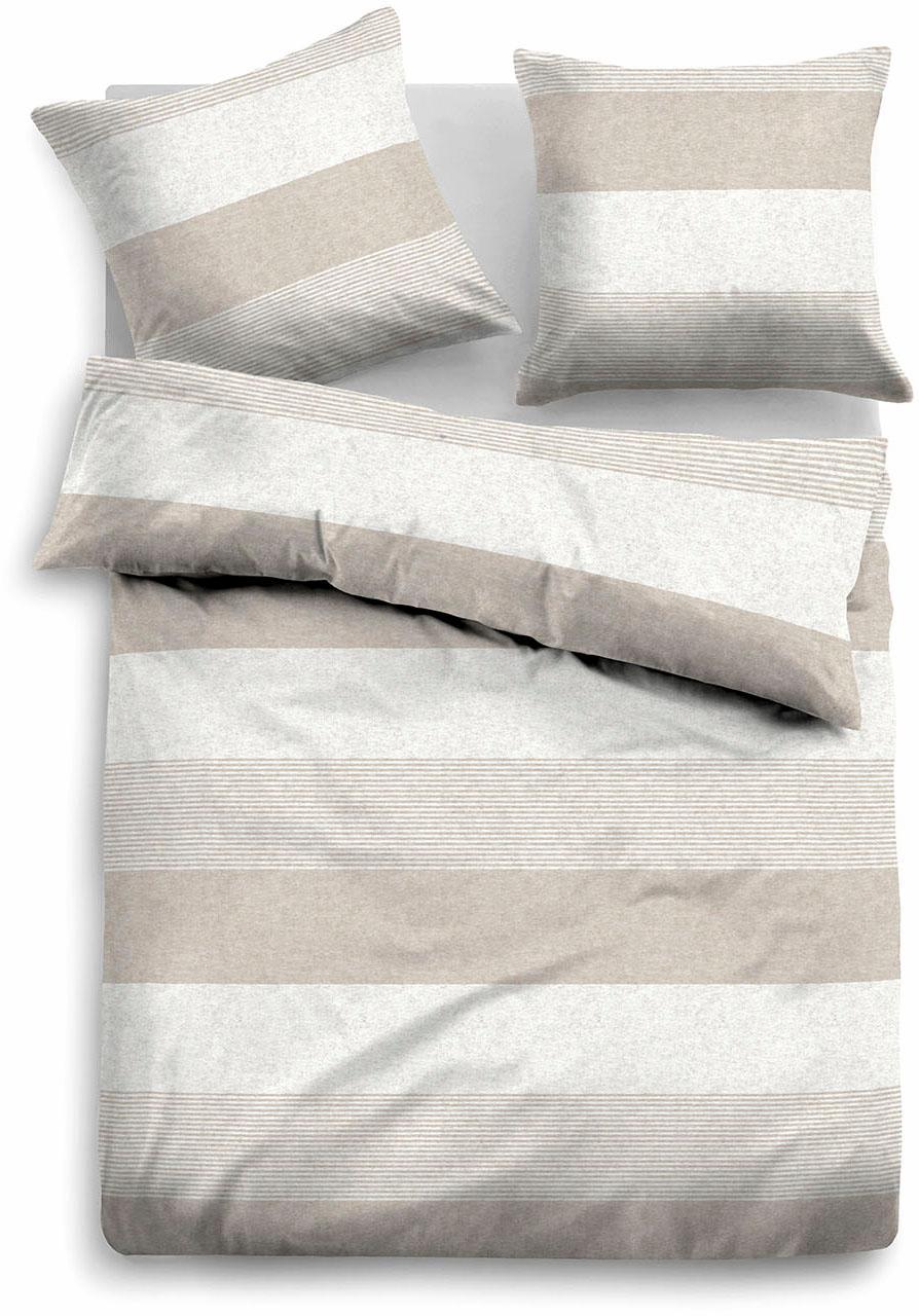 Bettwäsche, Tom Tailor, »Caro«, mit unterschiedlichen Streifen | Heimtextilien > Bettwäsche und Laken > Bettwäsche-Garnituren | Baumwolle | TOM TAILOR