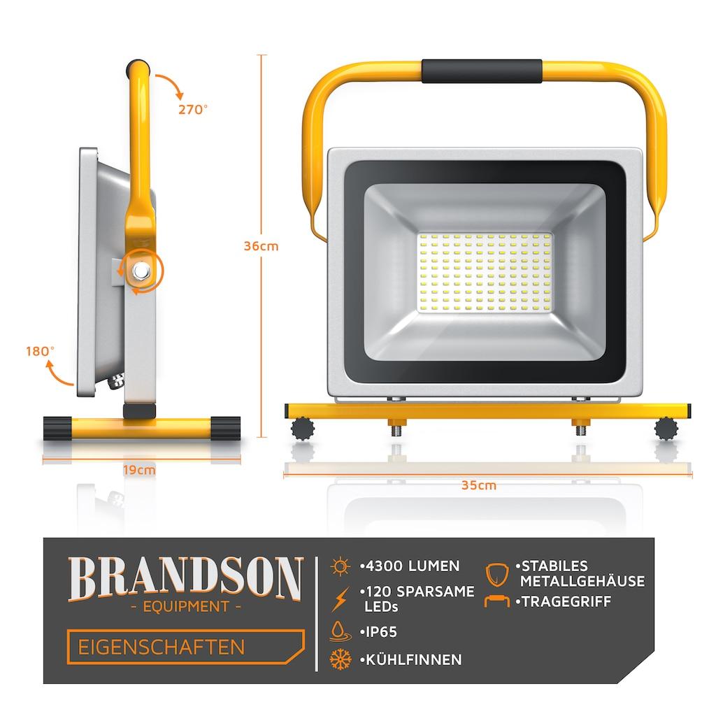 Brandson 50W LED Outdoor-Baustrahler »IP65-Schutzart / Geringe Wärmeentwicklung«