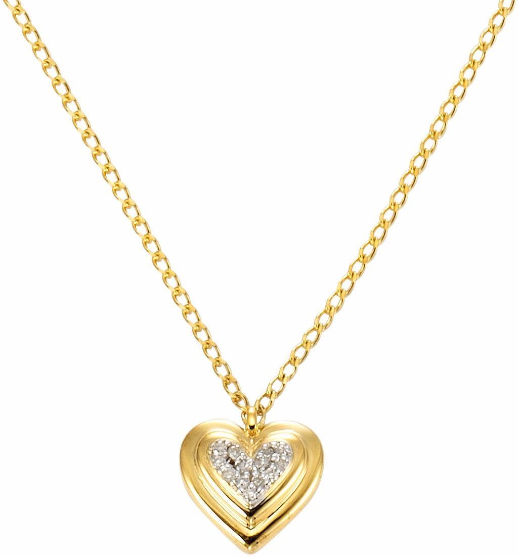 Vivance jewels Kette mit Anhänger »Herz« | Schmuck > Halsketten > Herzketten | Goldfarben | VIVANCE JEWELS