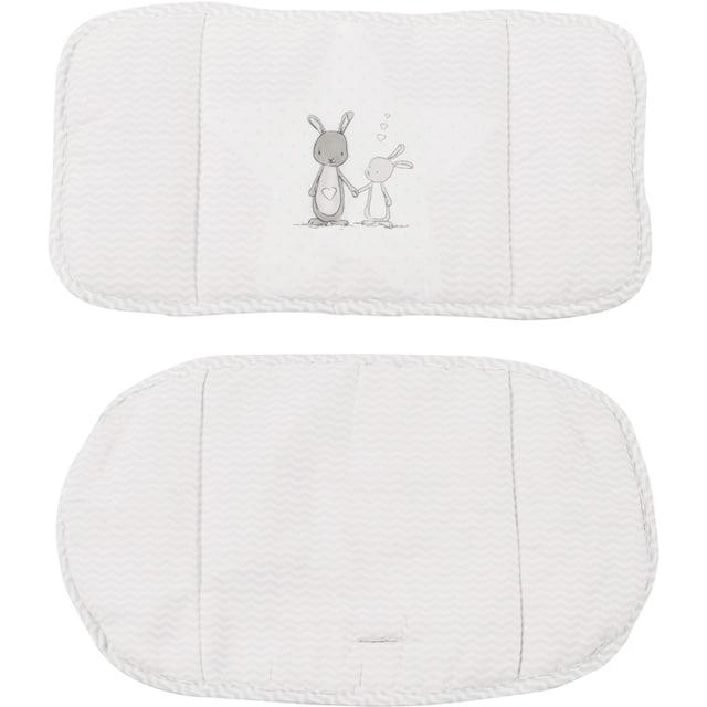 "roba® Kinder-Sitzauflage ""(1852V) Dekor (168) Fox und Bunny"", (2-tlg.)"