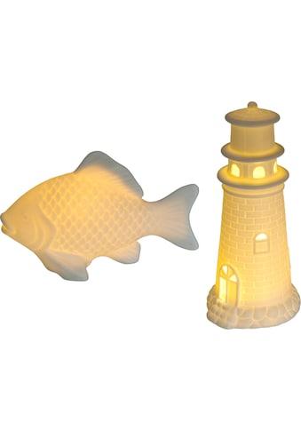 Creativ home Dekofigur »Leuchtturm und Fisch« kaufen