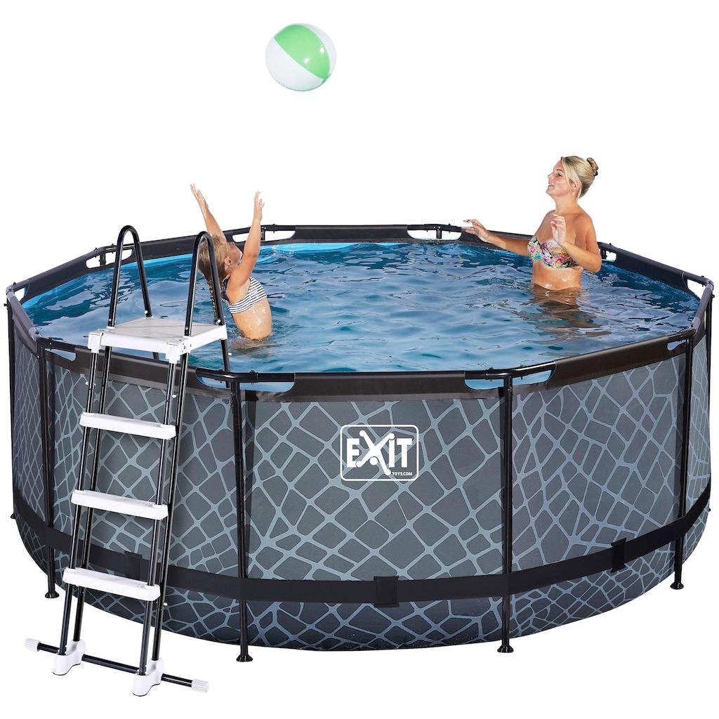 EXIT Framepool, (Set), ØxH: 360x122 cm, mit Sandfilter