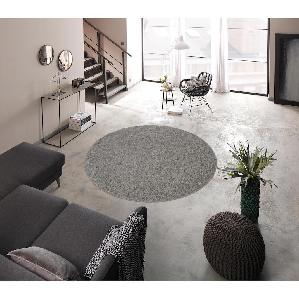 my home Hochflor-Teppich »Bodrum«, rund, 30 mm Höhe, weicher Flor