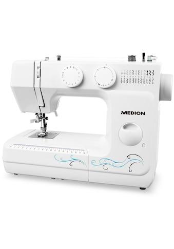 Medion® Freiarm-Nähmaschine »MD 18205«, Knopfloch- und Einfädelautomatik kaufen