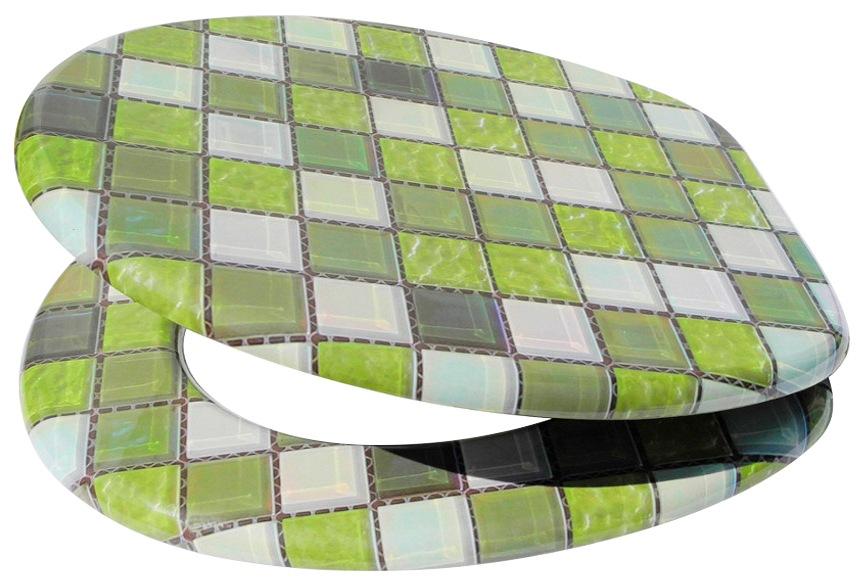 SANILO WC-Sitz »Mosaik Grün«, mit Absenkautomatik | Bad > WCs > WC-Sitze | Sanilo