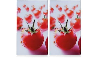 """Zeller Present Schneide -  und Abdeckplatte """"Tomate"""", ESG - Sicherheitsglas, (Set, 2 - tlg.) kaufen"""