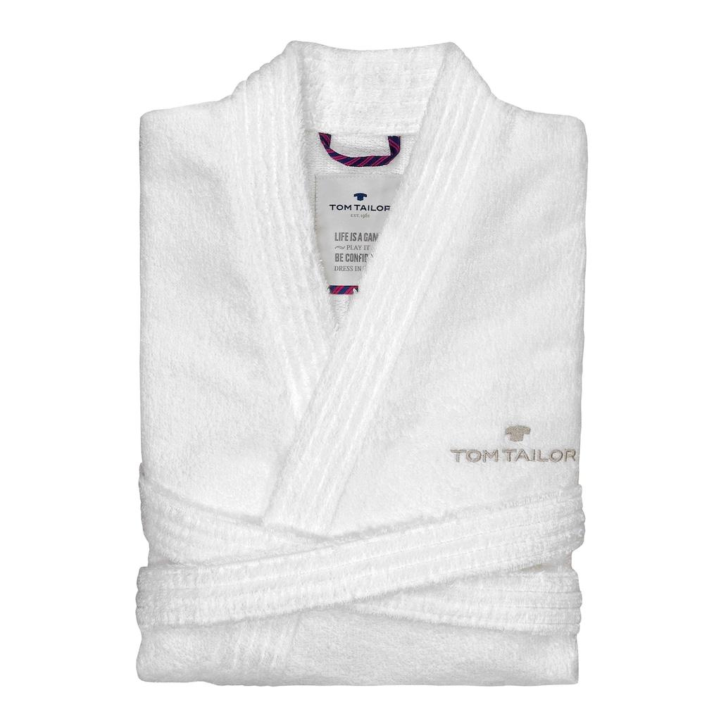 TOM TAILOR Unisex-Bademantel »Kimono«, mit Logostickerei