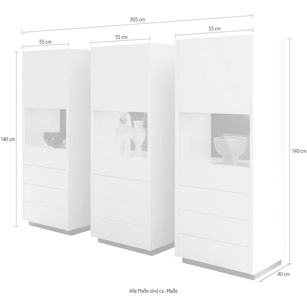 INOSIGN Schrank-Set »CAiO«, (Set, 3 St.), Breite ca. 205 cm